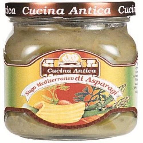 Cucina Antica – Sauce Méditerranéenne Asperges – Boîte de 12 pots de 200 g chacun