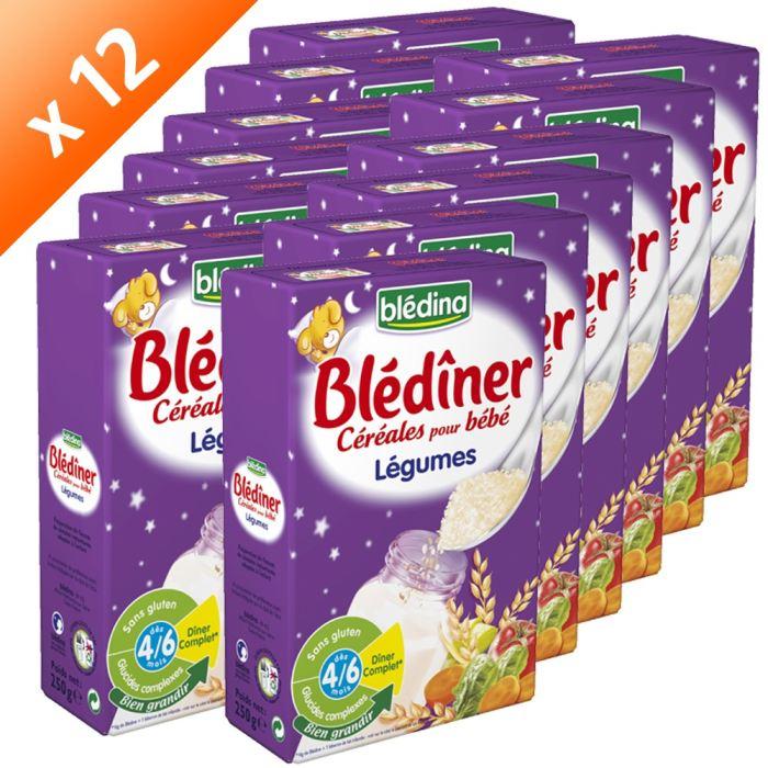 BLEDINER Céréales et 5 Légumes 12x250g