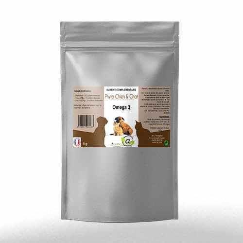 Omega 3 poudre 1 kilo pour chien et chat