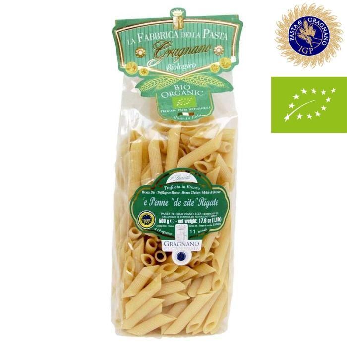 Penne rigate Pâtes italiennes Ziti di Gragnano IGP biologique – Carton de 16 pièces