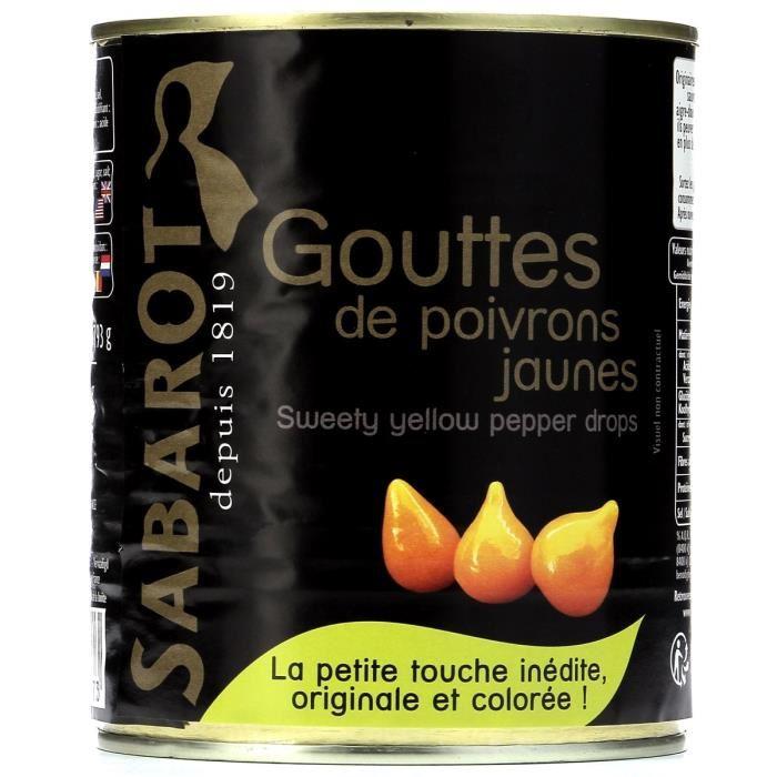 SABAROT Gouttes de poivrons jaunes – 793 g