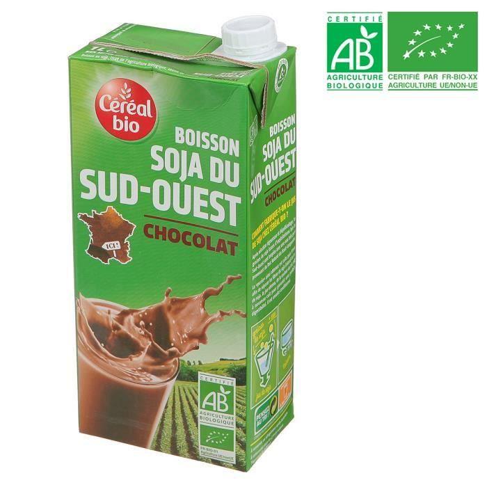 CEREAL BIO Boisson Soja du Sud-Ouest Chocolat – 1 l