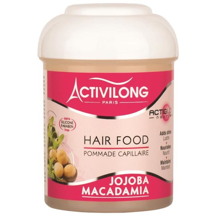 ACTIVILONG Pommade capillaire Actigloss Nourish Hair Food – Jojoba et macadamia – 125 ml