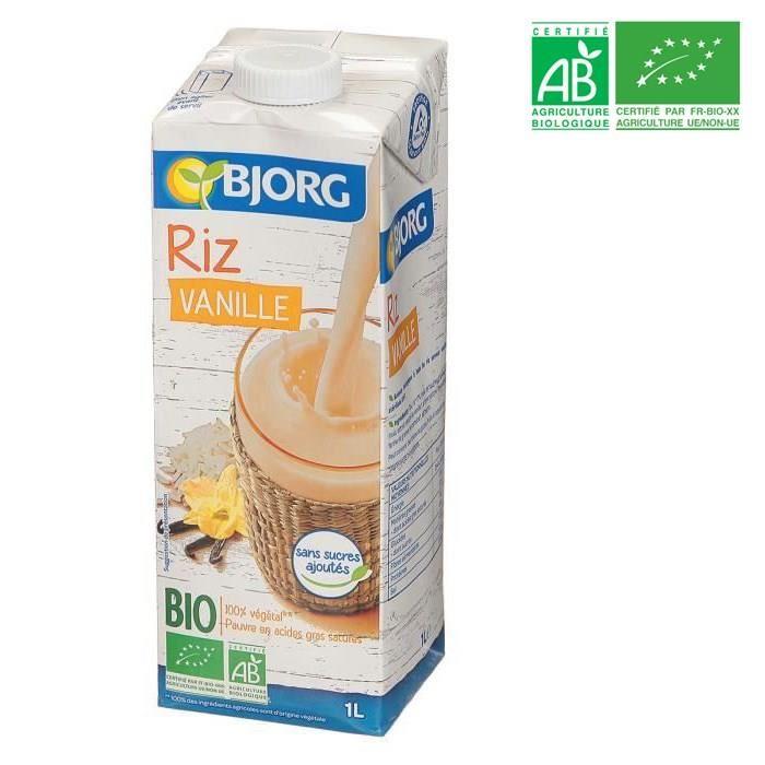 BJORG Boisson riz saveur vanille des îles – Biologique – 1 L