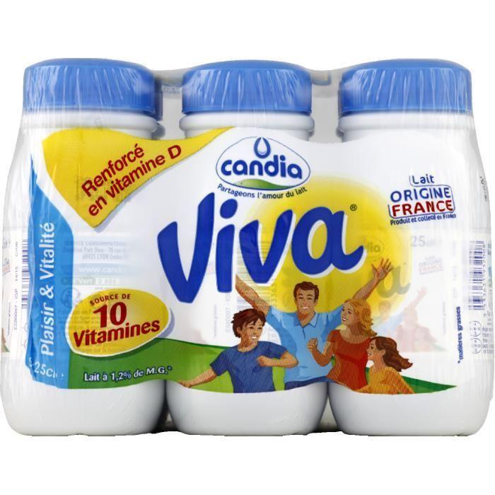 Viva lait uht vitaminé 6x25cl
