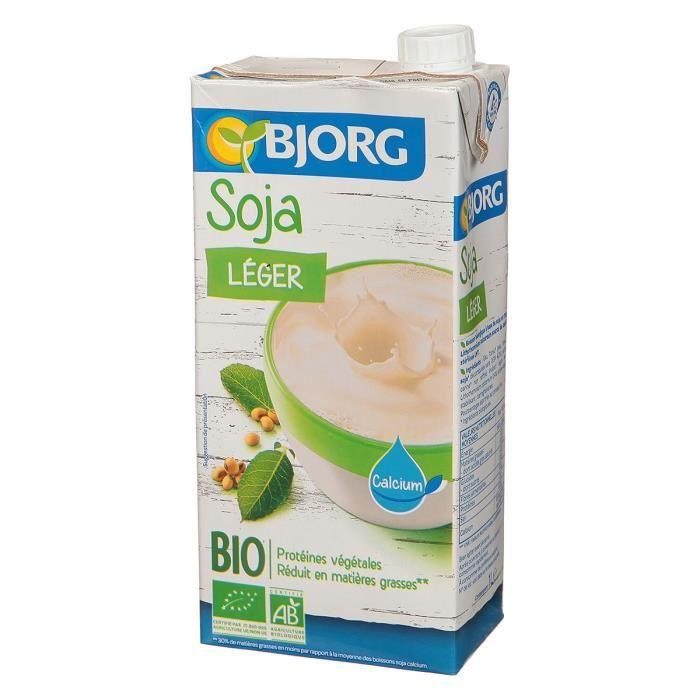 BJORG Boisson soja Léger – Biologique – 1 L