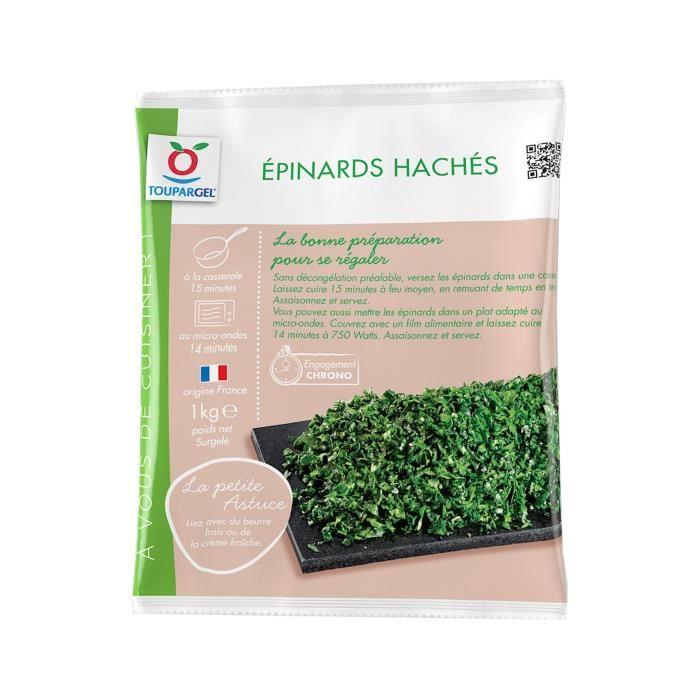 Epinards surgelés hachés – 1 kg