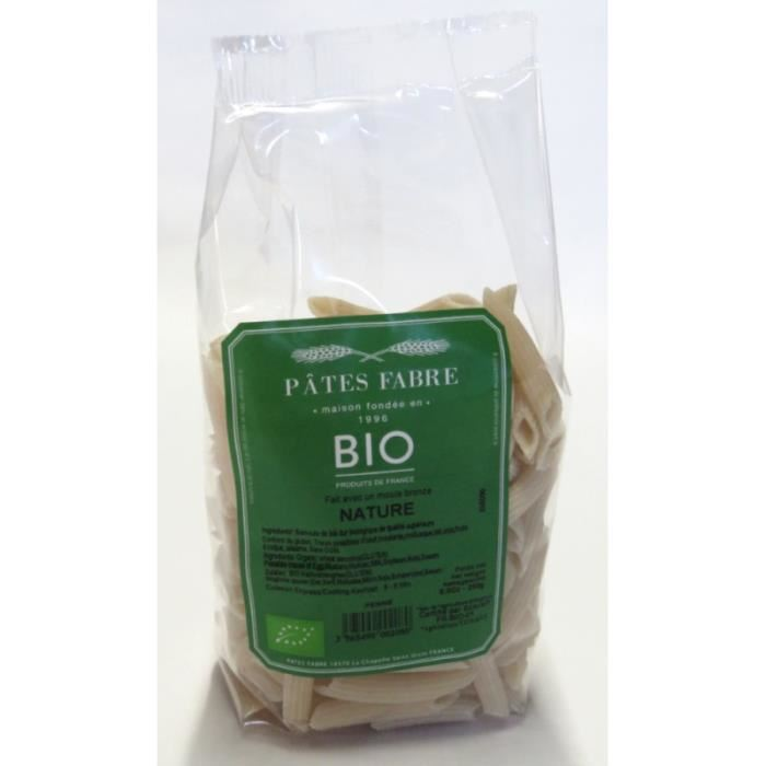 Penne rigate bio nature Fabre 250 gr