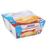 NESTLÉ P'tit Gourmand Semoule au lait Biscuitée – 4×100 g – Dès 6 mois